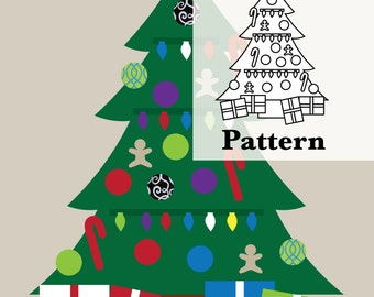 DIY Pattern for Christmas Felt Tree - Kids Wall Activity. Build a Tree! Buy a craft, feed a baby.