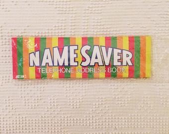 Vintage Name Saver Telephone Address Book NIP 1983