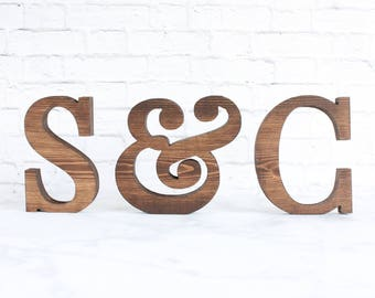 Wedding Letters, Wood Letters, Wood Initals, Freestanding Letters