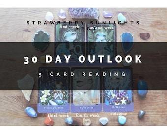 30 Day Outlook (5 Card Tarot Reading)