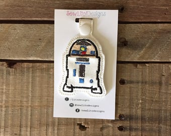 Embroidered R2D2 Key Fob