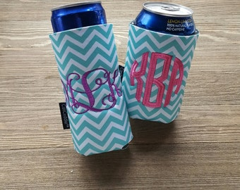 Monogrammed Drink Holder - Monogram Can Cooler - Monogrammed Can Cuddler®&free KOOZIE ® with purchase of Custom CanCuddler ®-Select you Size