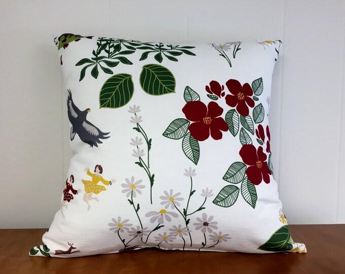 Swedish Himlajord White Pillow Case Josef Frank Style Scandinavian Modern
