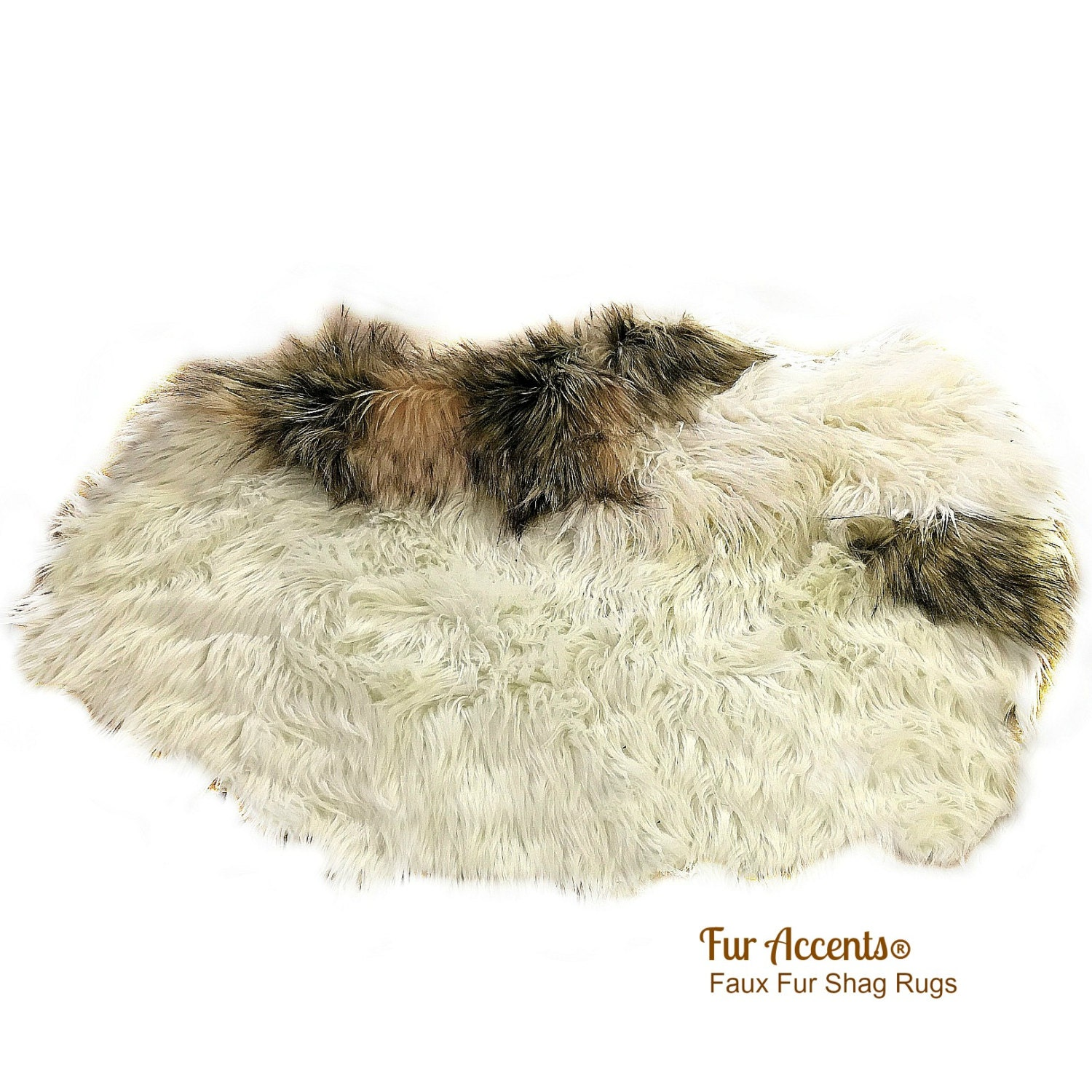 Faux Fur Area Rug Pieced Fur Pelt Rug Collection Pelt
