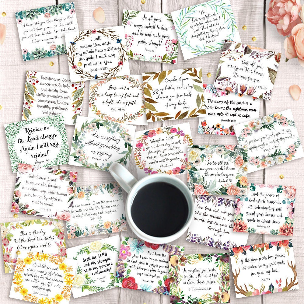 It's just a picture of Massif Printable Bible Verse Cards