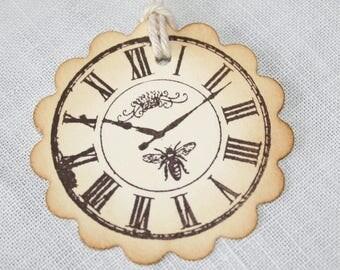 Bee tags, Bee gift tags, Bee favor tags, Bee wedding favor tags, 2 inch tags, gift tags