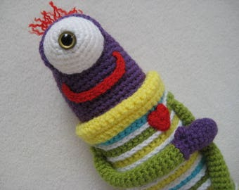 Amigurumi Silly Monster in Over-sized Sweater PDF Crochet PATTERN Toy Doll Alien DIY