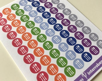 A13 - Dine Out - Meal Planning - Planner Stickers