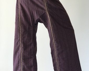 TCZ0047 Fisherman Pants Wide Leg pants, Wrap pants, Unisex pants, Thai Fisherman Pants, TC Fabric