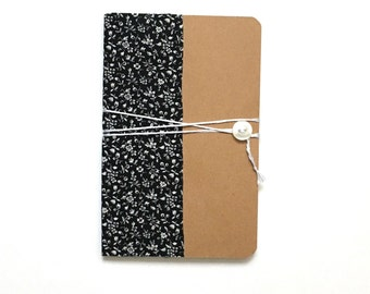 Handmade notebook with flowers