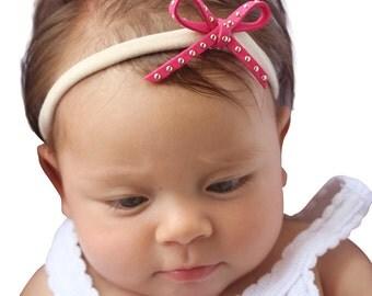 Bow Headband, Pink Headband, Baby Bows, Bow Headband, Tyni Bow Headband, Baby Headband bows, Pink Headband, Headband Bow, Baby Accessories