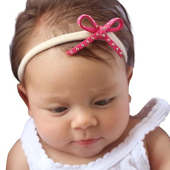Pink Headband, Baby Headband, Baby Bows, Bow Headband, Tyni Headband, Baby Headband bows, Headband Bow, Baby Accessories