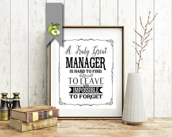MANAGER appreciation day, Boss week, Manager card, Manager gift, thank you boss, mentor, leader, Digital, retirement, leaving gift
