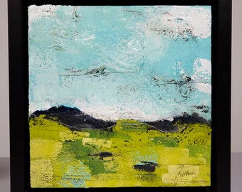 Original Abstract Encaustic Landscape