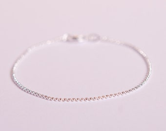 Fine Anklet Silver Chain Silver Plated Ball Chain Ballchain