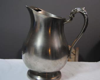 Pewter Pitcher FB Rogers Silver Company/Water Pitcher/Pewterlite