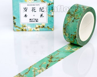 Apricot blossom tape,Flower washi tape,Masking tape,Planner sticker,Scrapbooking,Wedding deco,Gift wrap