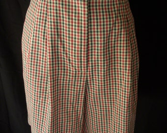 Women's Vintage 80s plaid high waist shorts sz M