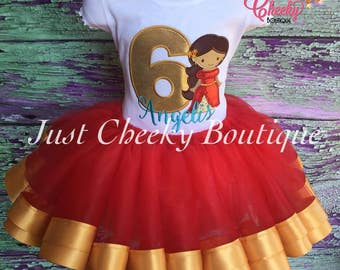 Elena of Avalor Tutu Outfit - Princess Elena - Disney Vacation - Disney Princess Birthday Tutu - Elena of Avalor Costume - 1st Disney Trip