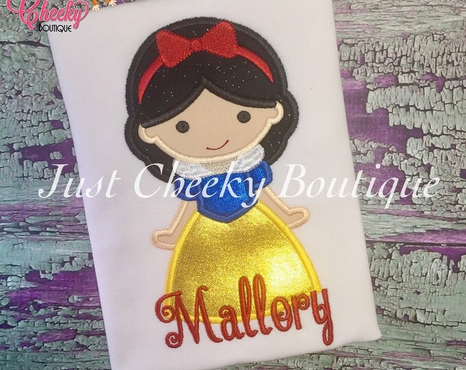 Princess Cutie as Snow White Embroidered Shirt - Disney Princess - 1st Disney Trip - Disney Vacation - Princess Birthday - Seven Dwarfs