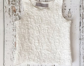 White lace baby tank top, toddler tank top, kids tank top, baby girl shirt, baby shirt, baby clothing, baby summer clothes, summer outfit