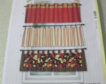 Kwik Sew 3911 Window Valances. Kwik Start Sew