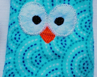 Ouchie Owl ~ Hot or Cold ~ Rice Pack - Teal - Blue - White
