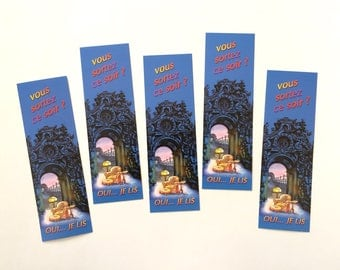 Batch of bookmarks you going out tonight? mark illustrated page, collection of bookmarks, reading accessory