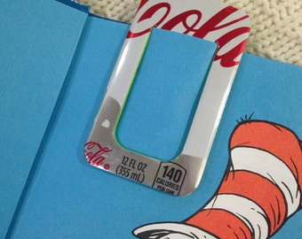 Recycled soda can bookmark