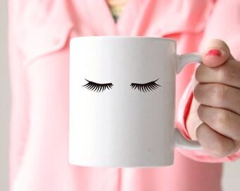Eyelash Mug - Lash Mug - Makeup Mug - Beauty Mug - Fashion Mug