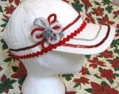 White Glitzy Santa Elf Ba...