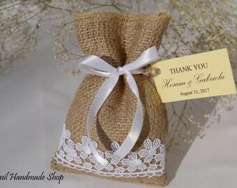 Burlap Gift Bag, Rustic Favor Bags, Candy Buffet Bags, Burlap, Beach Wedding Favor Bags, - SET OF 120