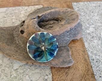 """Vintage Flower Brooch - Ceramic Brooch - 1.5"""""""