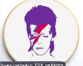 "Counted Cross Stitch Pattern ""Bowie"""