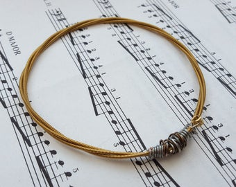 Guitar string bracelet Size S, guitarist, guitar player, cool music rock jewellery