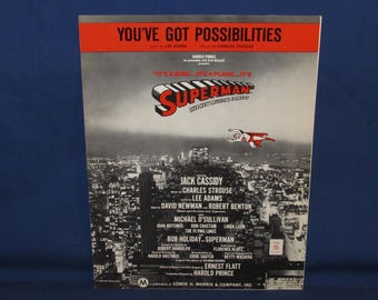 SUPERMAN SHEET MUSIC 1966 You've Got Possibilities