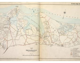 Port Jefferson - 1917 - Long Island New York - Suffolk Co Atlas V1 Brookhaven Town Map Reprint LI NY