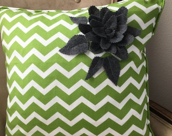 green pillow cover 20 x 20 inch green chevron pillow cover lime pillow cover foliage green