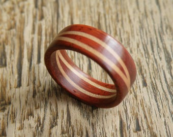 Padauk/double Maple ring