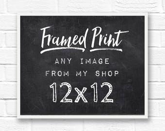 12x12 frame framed print framed wall art framed word art framed photography framed quotes 12x12 picture frame square frame custom