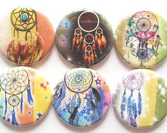 Dreamcatcher Magnets, Tribal, Southwest Decor, Refrigerator Magnets, Fridge Magnets, SW Dreamcatchers, Office, School Magnet, Gift, Set of 6