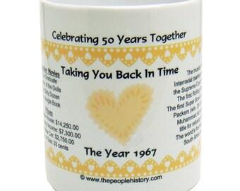 1967 50th Anniversary Mug - Celebrating 50 Years Together