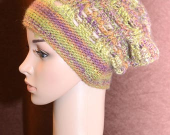 Tapestry Stained Glass Slouchy Hat
