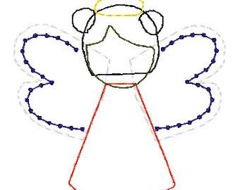Angel Applique Puff Ponytails