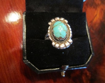 Smokey Mountain Turquoise in Sterling Ring