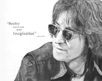 John Lennon Pencil drawing Print (bespoke sizes!)