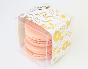 Personalized Gold Rustic Floral Favor Box