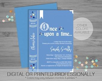 Book Baby Shower Invitation - Custom - Printable