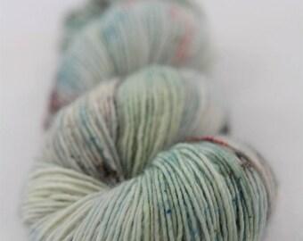 Hand-dyed yarn - sock yarn - superwash - merino - dyed-to-order - speckles - ROMARIN