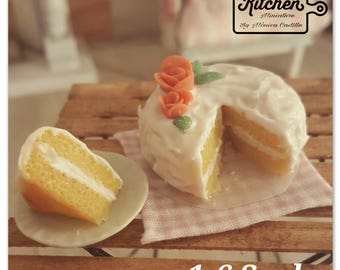 Cream milk and vanila cake 1:6 Scale